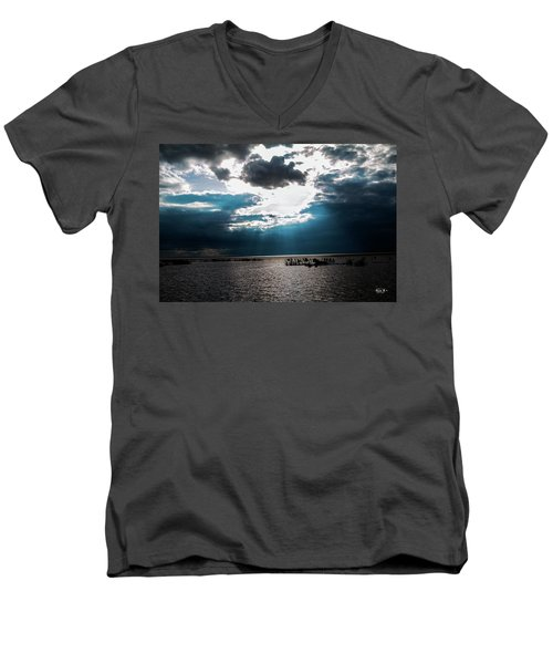 Beginning Of The End Of The Day Men's V-Neck T-Shirt