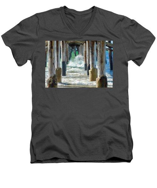 Below The Pier Men's V-Neck T-Shirt