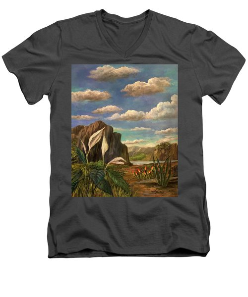 Beneath The Clouds Of Africa Men's V-Neck T-Shirt