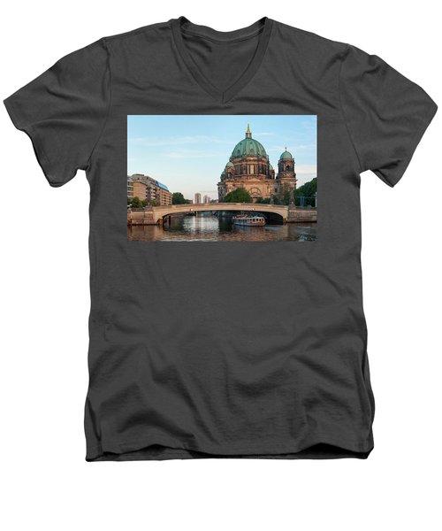 Berliner Dom And River Spree In Berlin Men's V-Neck T-Shirt