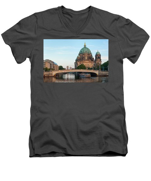 Berliner Dom And River Spree In Berlin Men's V-Neck T-Shirt