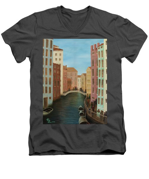 Beyond The Grand Canal Men's V-Neck T-Shirt