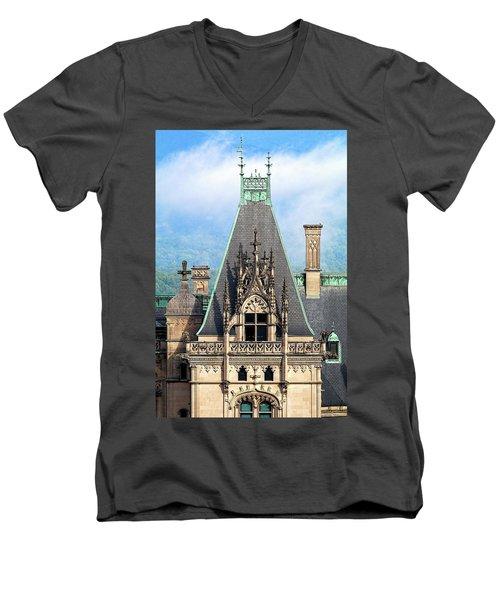 Biltmore Architectural Detail  Men's V-Neck T-Shirt