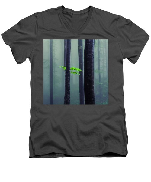 Bit Of Green Men's V-Neck T-Shirt