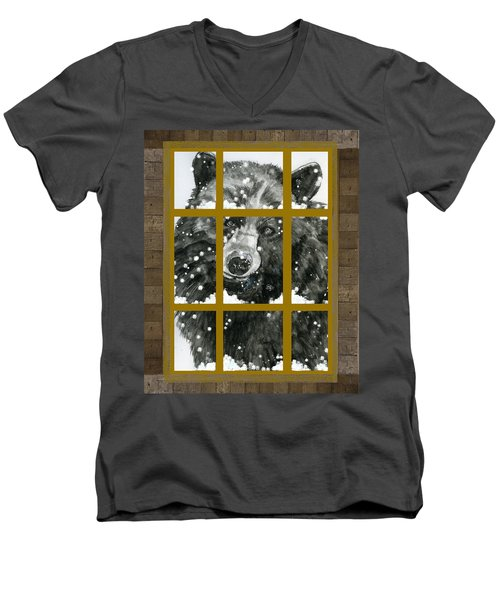 Black Bear, Outside My Window Men's V-Neck T-Shirt