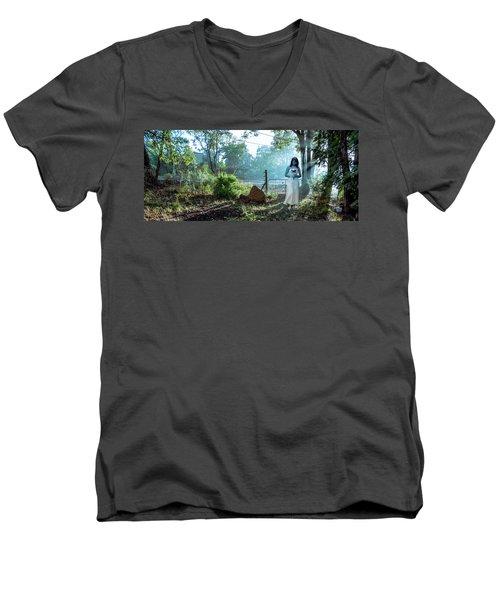 Blue Lady Men's V-Neck T-Shirt
