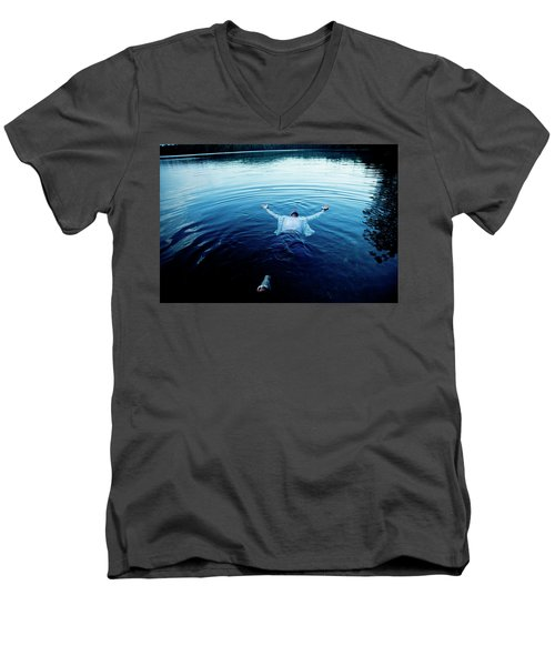 Blue Lake Men's V-Neck T-Shirt