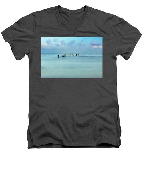 Blue Mayan Sea Men's V-Neck T-Shirt