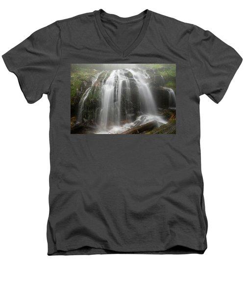 Blue Ridge Mountain Falls Men's V-Neck T-Shirt