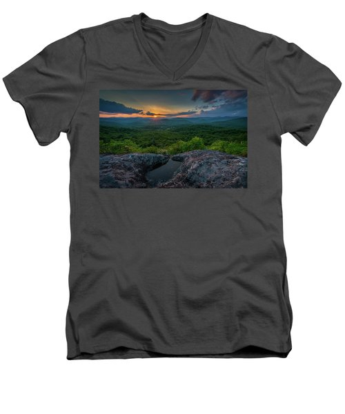 Blue Ridge Mountain Sunset Men's V-Neck T-Shirt