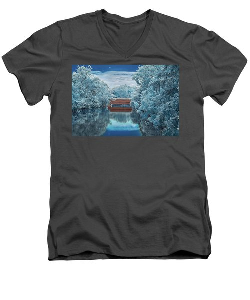 Blue Sach's Men's V-Neck T-Shirt