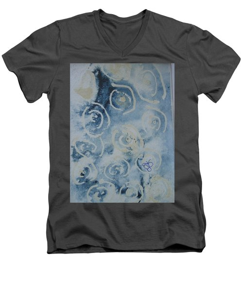 Blue Spirals Men's V-Neck T-Shirt