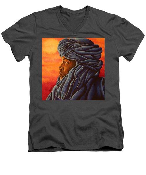 Blue Tuareg Men's V-Neck T-Shirt