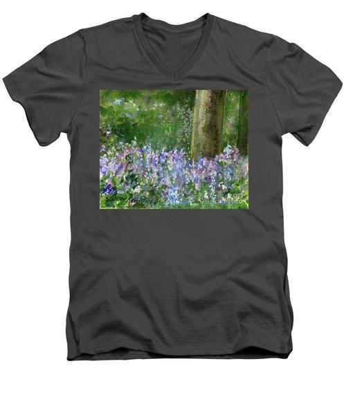 Bluebells Under The Trees Men's V-Neck T-Shirt