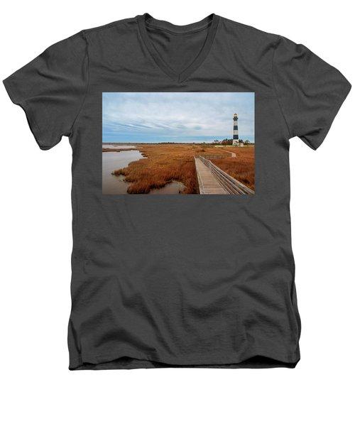 Bodie Island Lighthouse No. 3 Men's V-Neck T-Shirt