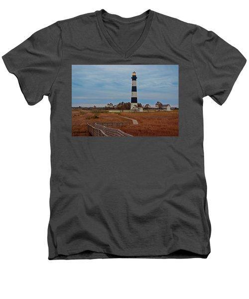 Bodie Island Lighthouse No. 4 Men's V-Neck T-Shirt