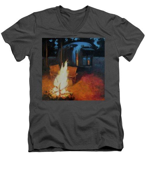 Boondocking At The Grand Canyon Men's V-Neck T-Shirt