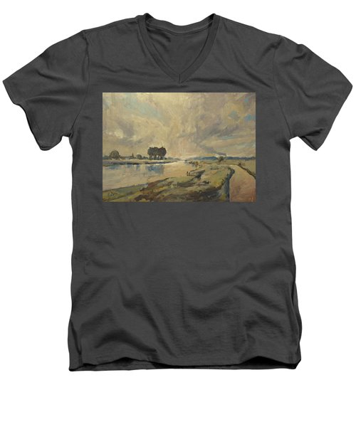 Border Maas Near Kotem With The View To Meers Men's V-Neck T-Shirt
