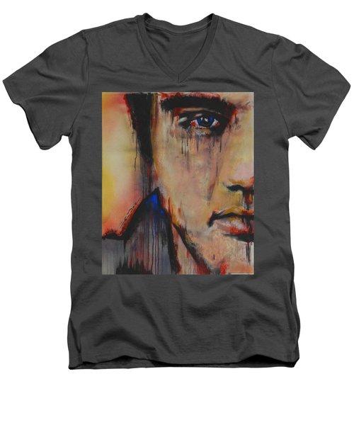 Born Standing Up Men's V-Neck T-Shirt