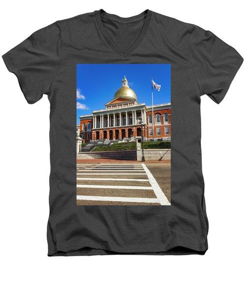 Boston Series 4944 Men's V-Neck T-Shirt