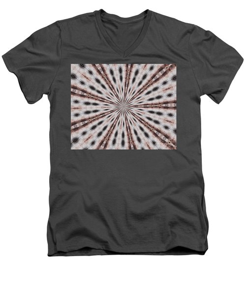 Boston Terrier Mandala Men's V-Neck T-Shirt