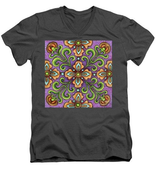 Botanical Mandala 10 Men's V-Neck T-Shirt