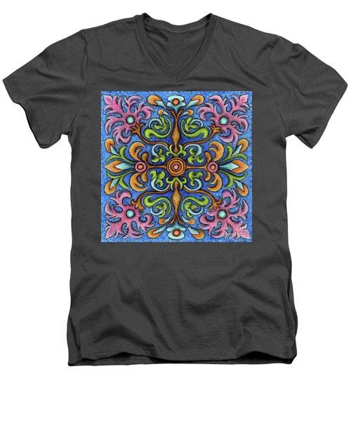 Botanical Mandala 2 Men's V-Neck T-Shirt