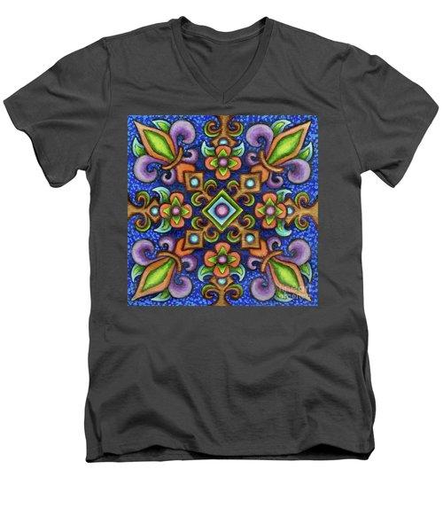 Botanical Mandala 3 Men's V-Neck T-Shirt