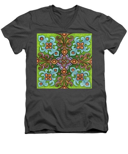 Botanical Mandala 4 Men's V-Neck T-Shirt