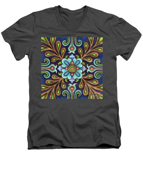 Botanical Mandala 9 Men's V-Neck T-Shirt