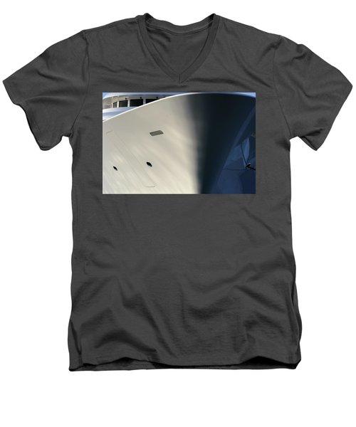 Bow Of Mega Yacht Men's V-Neck T-Shirt