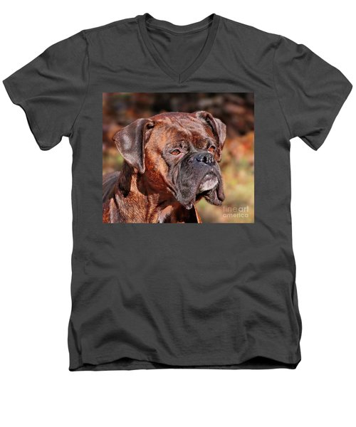 Boxer Men's V-Neck T-Shirt