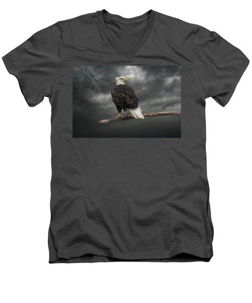 Braving The Storm Men's V-Neck T-Shirt