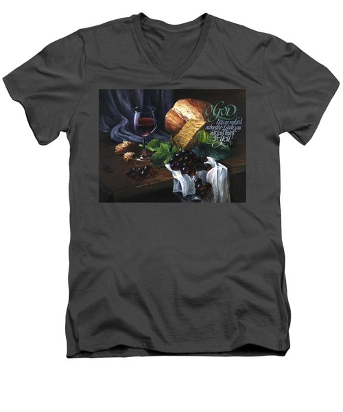 Bread And Wine Men's V-Neck T-Shirt