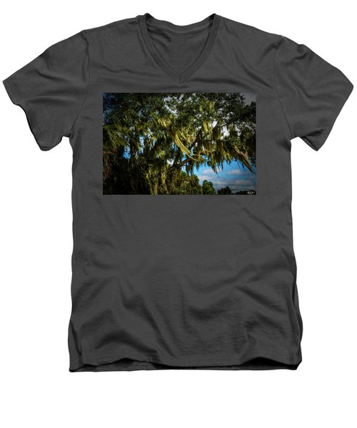Breezy Florida Day Men's V-Neck T-Shirt