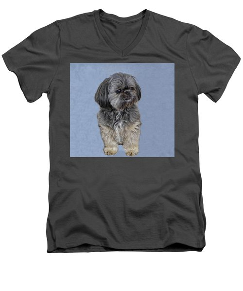Men's V-Neck T-Shirt featuring the photograph Brendie by Thom Zehrfeld