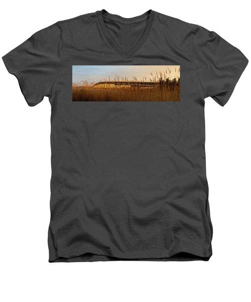 Bridge To Assateague Island National Seashore Men's V-Neck T-Shirt
