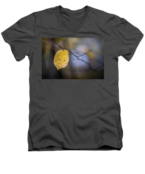 Bright Fall Leaf 1 Men's V-Neck T-Shirt