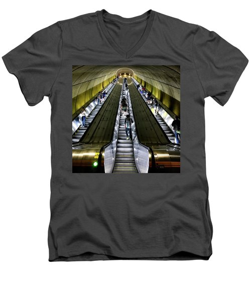 Bright Lights, Tall Escalators Men's V-Neck T-Shirt