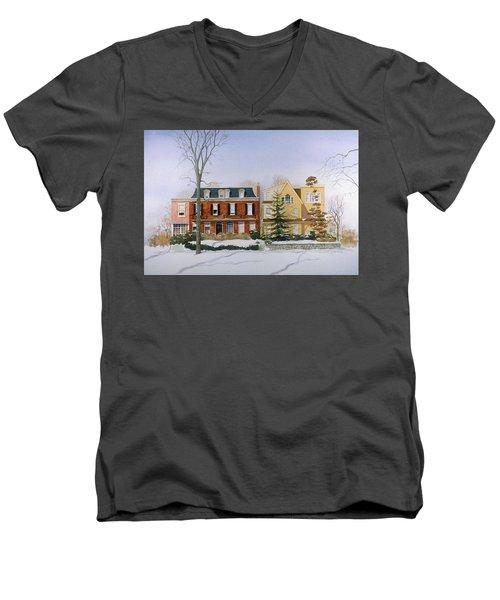 Broom Street Snow Men's V-Neck T-Shirt