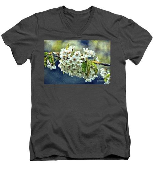 Budding Blossoms Men's V-Neck T-Shirt