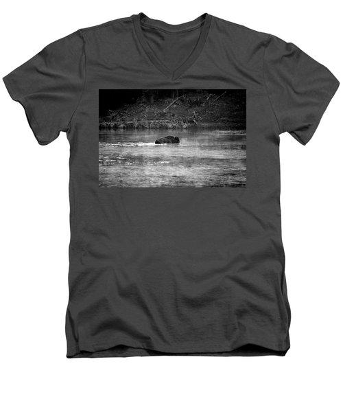 Buffalo Crossing Men's V-Neck T-Shirt