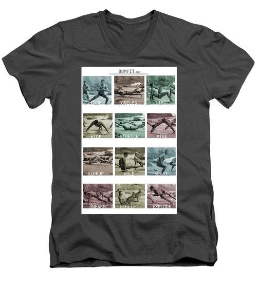 Bum Fit Beach Workout  Men's V-Neck T-Shirt