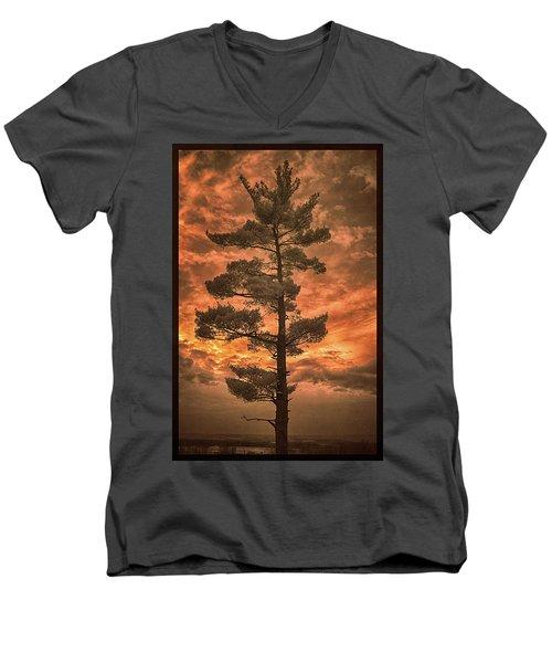 Burning Sky Men's V-Neck T-Shirt