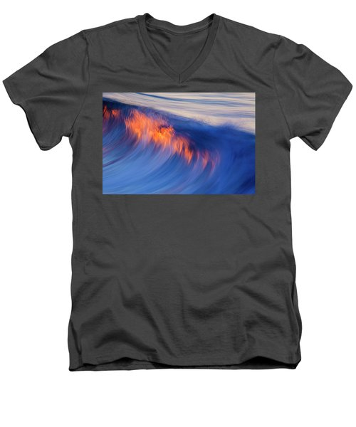 Burning Wave Men's V-Neck T-Shirt