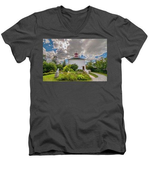 Burntcoast Head Lighthouse  Men's V-Neck T-Shirt