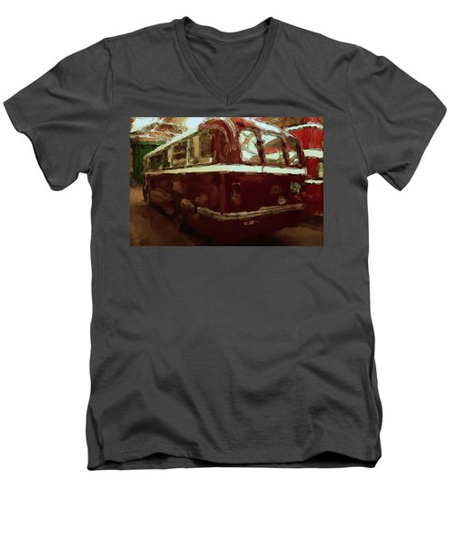 Bus 101 Painting Men's V-Neck T-Shirt