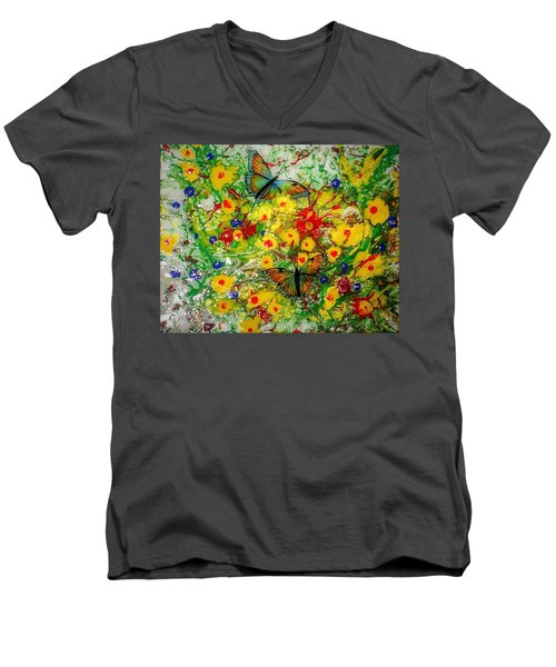 Butterfly Delight Men's V-Neck T-Shirt
