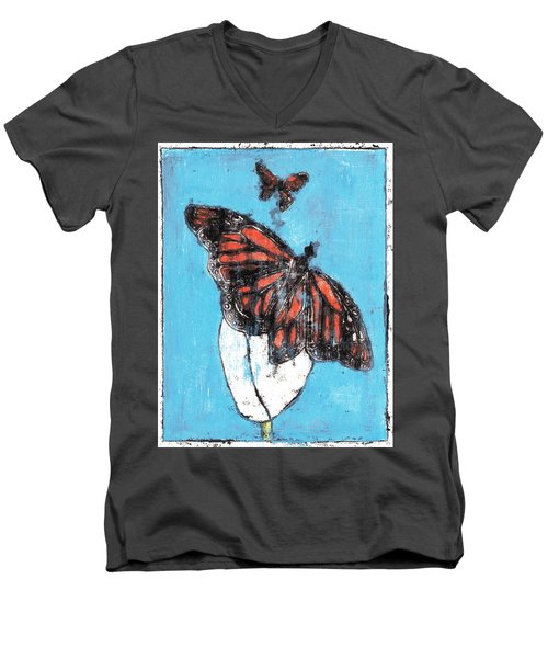 Butterfly Garden Summer 1 Men's V-Neck T-Shirt