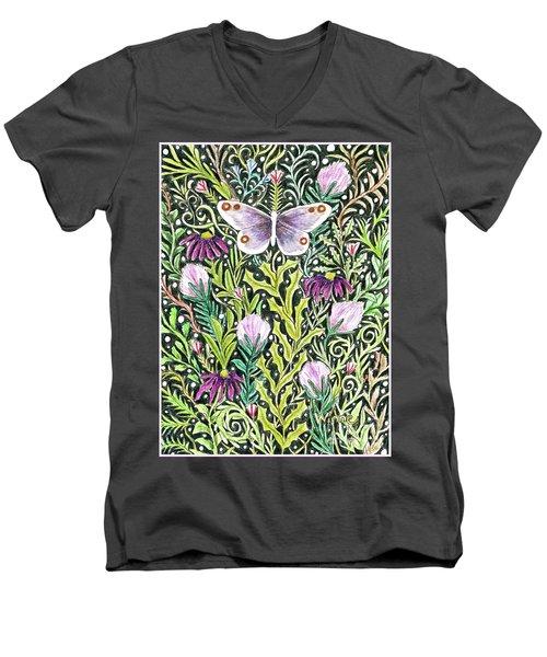 Butterfly Tapestry Design Men's V-Neck T-Shirt